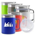 Custom 14 Oz. Summit Double Wall Stainless Steel Vacuum Insulated Campfire Mug (Lime Green)