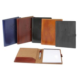 New Age Italian PU Leather Padfolio (Black)