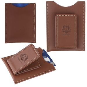 Concord Leather Magnetic Money Clip Card Case (English Tan)