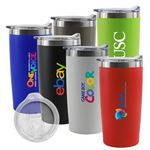 Custom Marin 20oz Double Wall Stainless Steel Vacuum Tumbler (White)