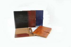 New Age Italian PU Leather Junior Padfolio ( Brown)