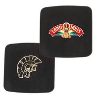 Atlantis Bonded Leather Square Coaster(black)