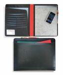 Custom CLOSEOUT SALE!! - Black Matrix Padfolio (Black/Red)