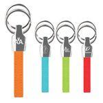 Custom iPosh PU Valet Key Chain - Orange