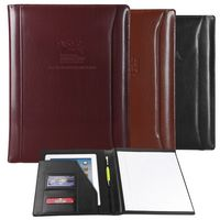 Atlantis Leather Padfolio (Burgundy Red)