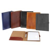 New Age Italian PU Leather Padfolio (Blue)