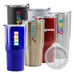 Custom Oceanside 20oz Double Wall Stainless Steel Vacuum Tumbler (White)