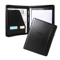 Concord Leather Portfolio Zippered (Black)