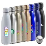Custom 17 Oz. Atlantis Double Wall Stainless Steel Vacuum Insulated Bottle (White)