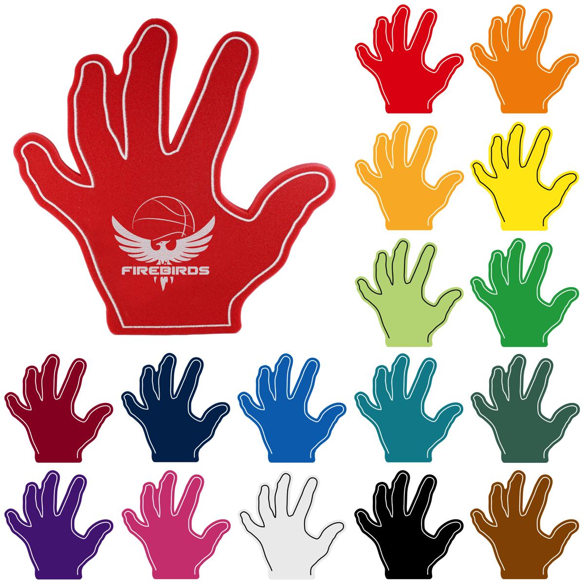 Basketball Foam Hand, FIN304, 1 Colour Imprint