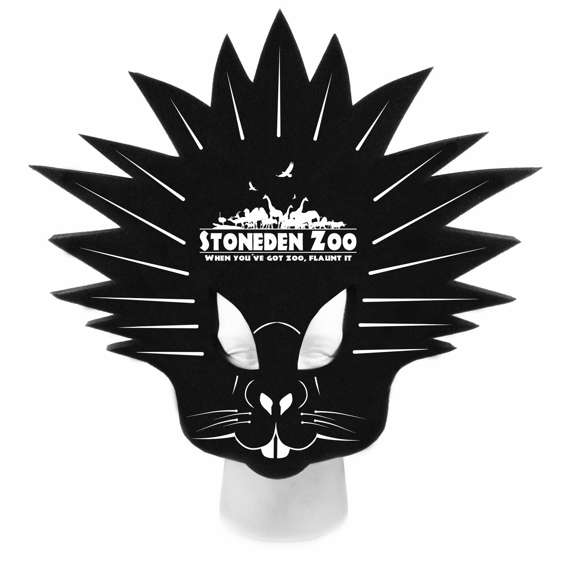 Foam Porcupine Hat, POR201, 1 Colour Imprint