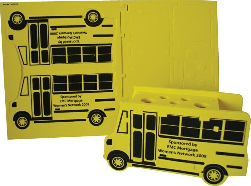 Foam School Bus Puzzle Organizer, CUBUS501, 1 Colour Imprint