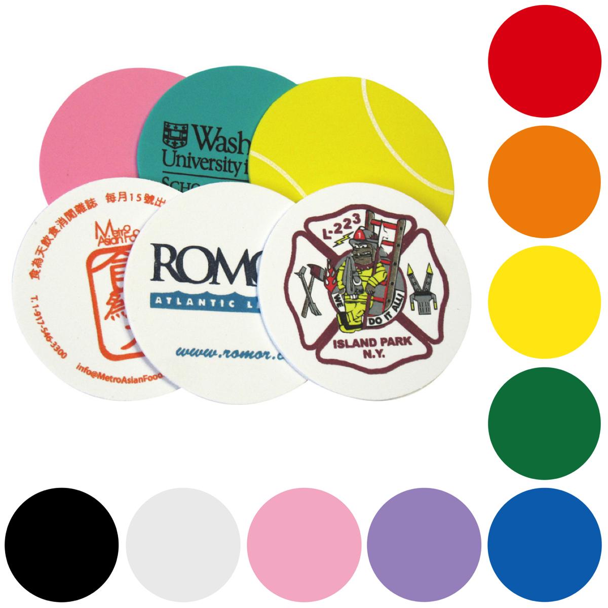 Foam Desktop Cup Coaster, COA501, Full Colour Imprint