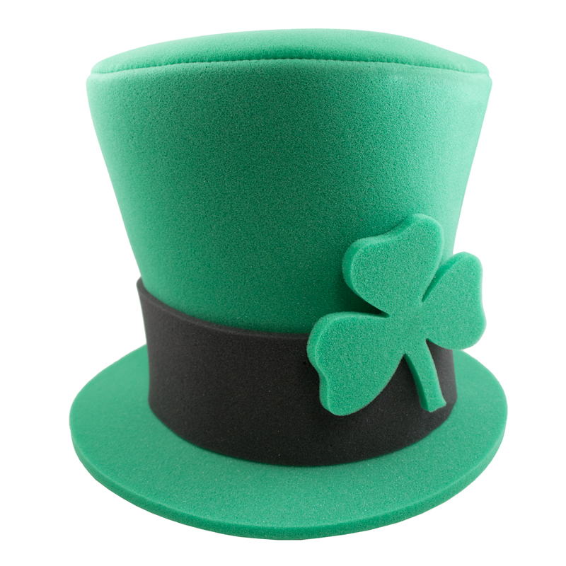 Large Foam Irish Top Hat, IR4107, 1 Colour Imprint