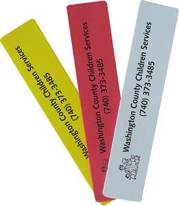 Foam Bookmark - Rectangle, BM501, Full Colour Imprint