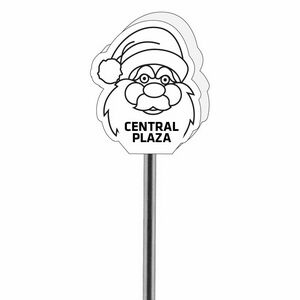 Foam Santa Antenna Topper, SAN601, 1 Colour Imprint