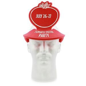 Pop-Up Visor - Tomato, TOM202, 1 Colour Imprint