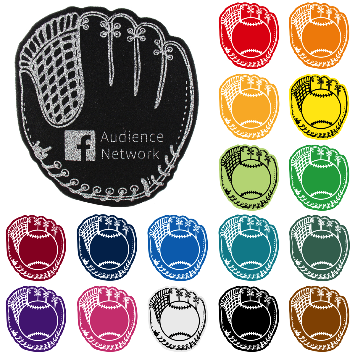 Foam Waver - Baseball Mitt, BB301, 1 Colour Imprint