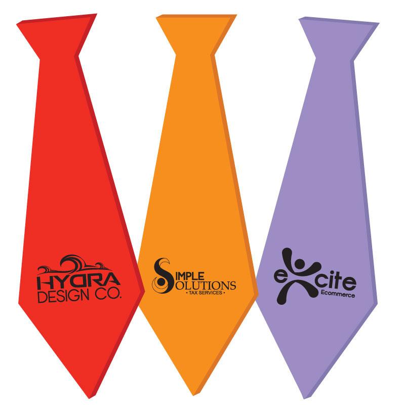 Foam Tie, TIE501, 1 Colour Imprint