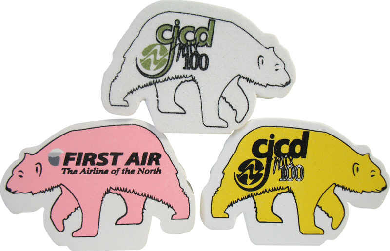 Foam Antenna Topper- Polar Bear, PB601, Full Colour Imprint