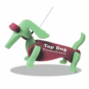 Weiner Dog on a Leash, WE101, 1 Colour Imprint