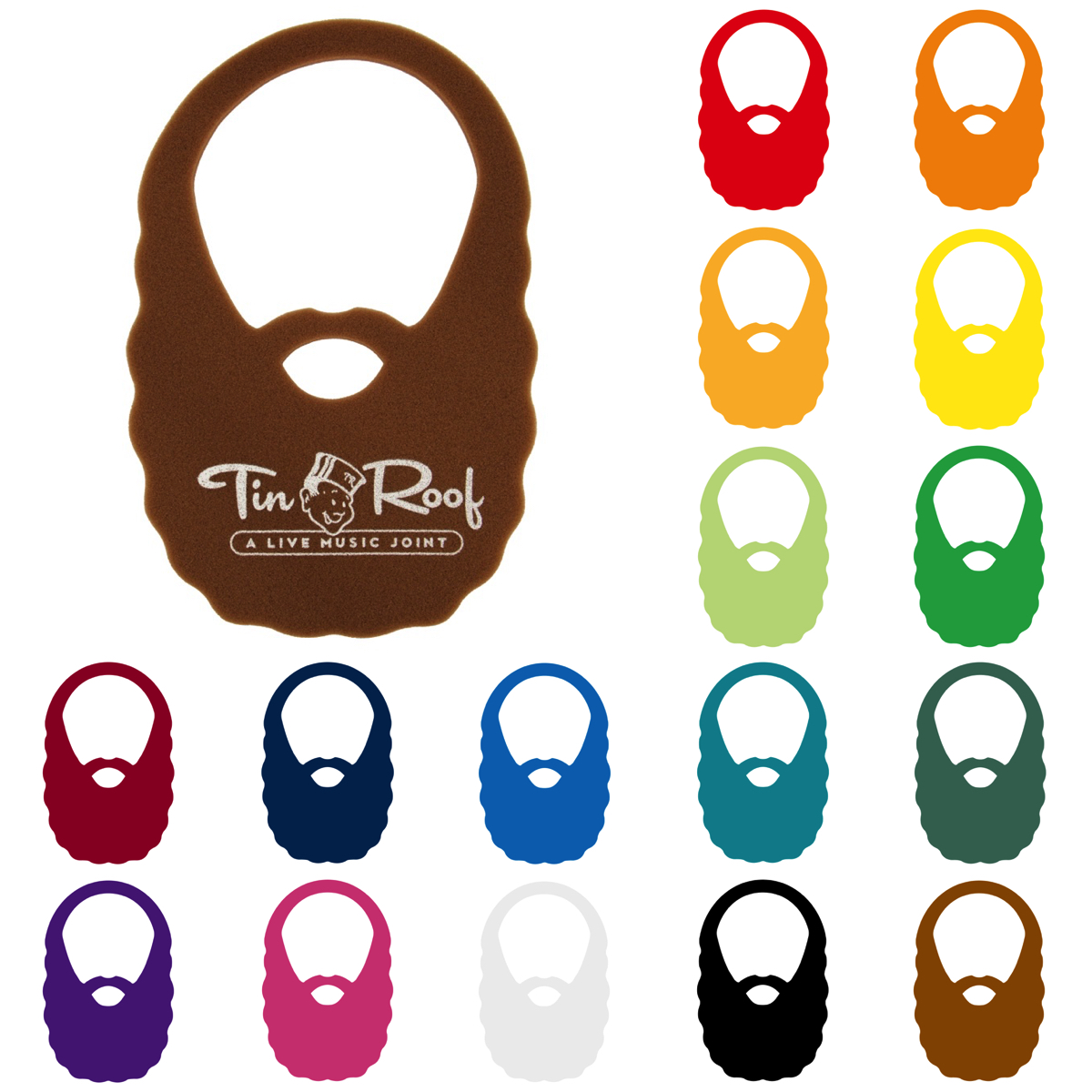 Foam Beard, BEARD203, 1 Colour Imprint