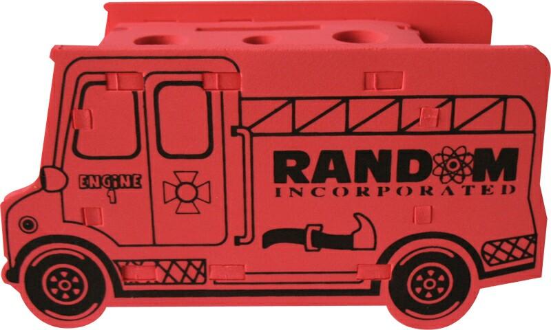 Foam Fire Truck Puzzle Organizer, CUFT501, 1 Colour Imprint