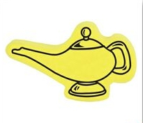 Genie Lamp Shape Sponge, TE301, 1 Colour Imprint
