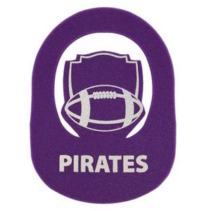 Football Crest Pop-Up Visor, CREST202, 1 Colour Imprint