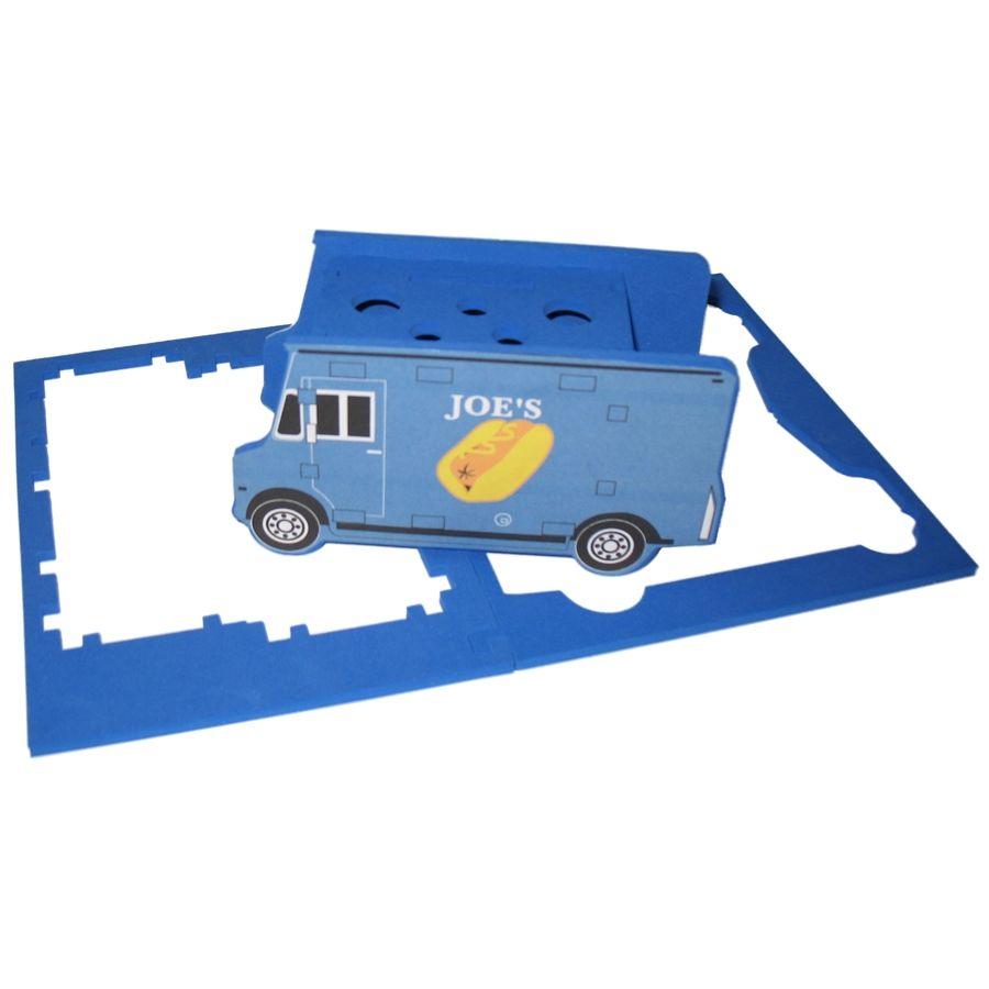 Foam Truck Shaped Desk Organizer Puzzle, CUTRU501, 1 Colour Imprint
