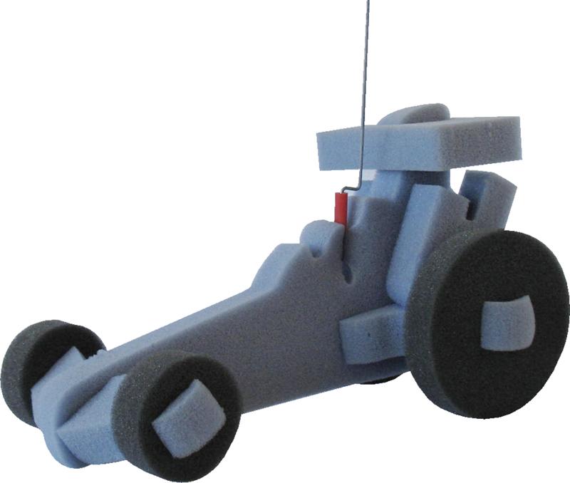 Dragster Racing Car w/Leash, DG101, 1 Colour Imprint