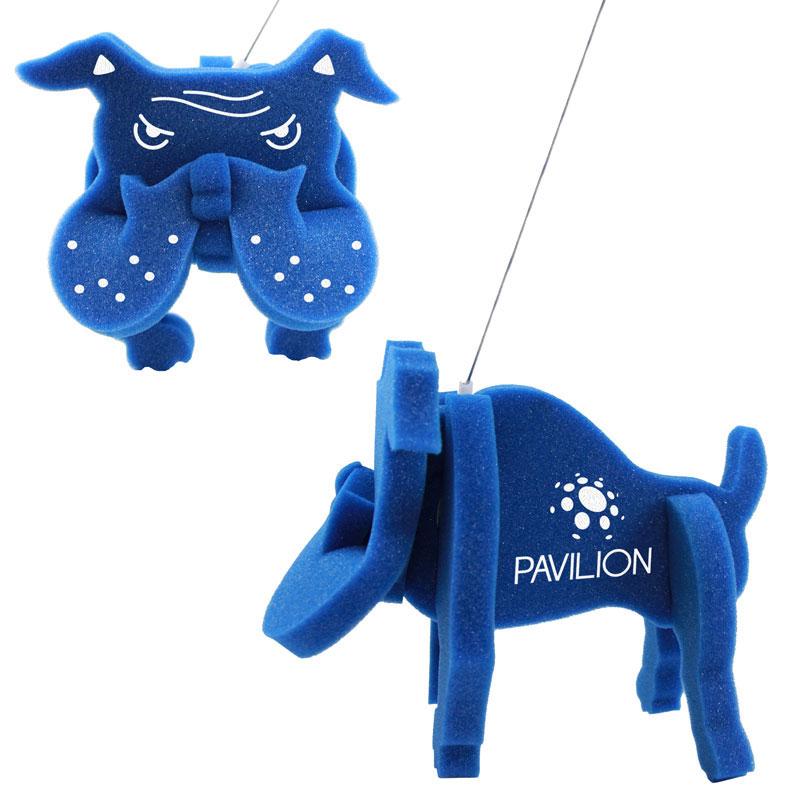 Walking Pet w/ Leash - Bulldog, BD101, 1 Colour Imprint