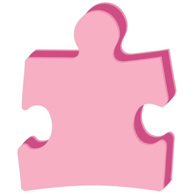 Puzzle Piece Sandwich Cushion, PUZ1401, 1 Colour Imprint