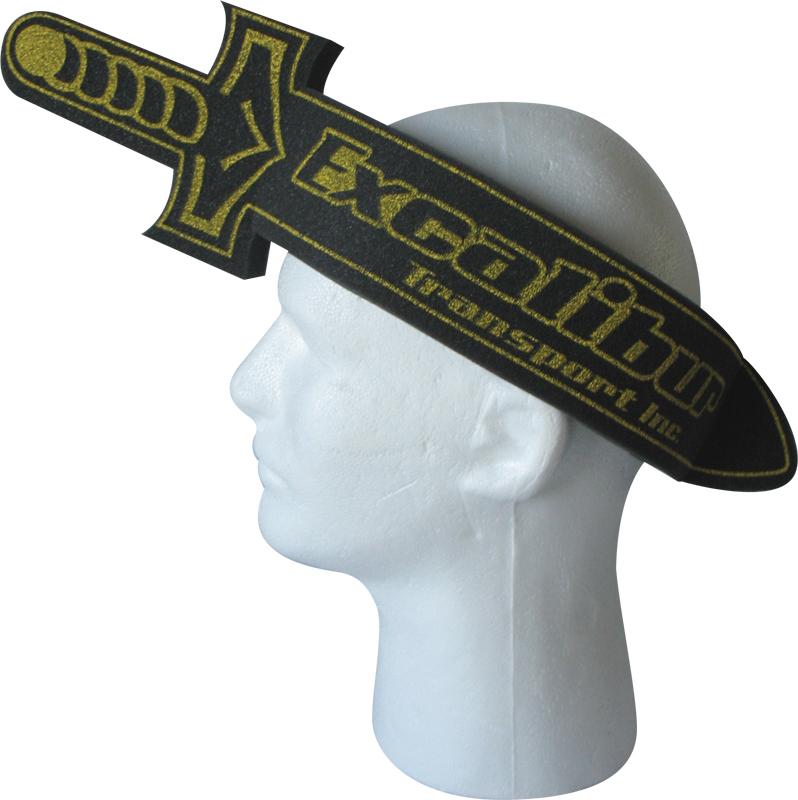 Medieval Foam Sword Hat, SW202, 1 Colour Imprint