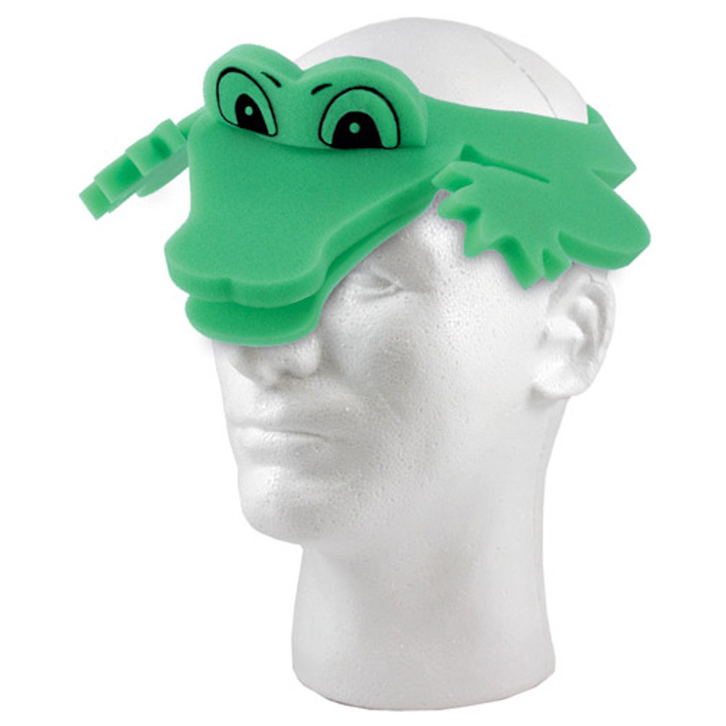 Alligator Foam Visor, AL2204, 1 Colour Imprint