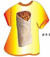 Burrito T Shirt Acrylic Coaster w/ Felt Back