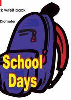 School Days Backpack Acrylic Coaster w/ Felt Back