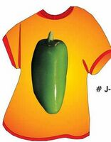 Jalapeno T Shirt Acrylic Coaster w/ Felt Back