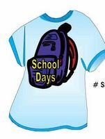 School Days Backpack T Shirt Acrylic Coaster w/ Felt Back