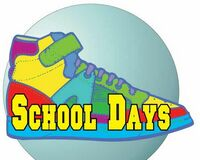 School Days Shoe Acrylic Coaster w/ Felt Back