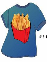 French Fries T Shirt Acrylic Coaster w/ Felt Back