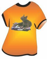 Korat Cat T Shirt Acrylic Coaster w/ Felt Back