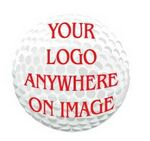 Golf Ball Promotional Magnet w/ Strip Magnet (10 Square Inch)