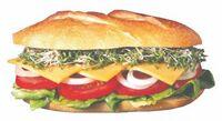 Sub Sandwich Acrylic Coaster w/ Felt Back