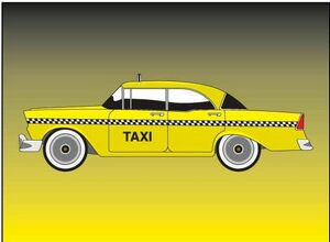 Custom Printed Taxi Stock Shaped Magnets