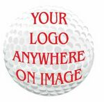 Golf Ball Promotional Magnet w/ Strip Magnet (3 Square Inch)