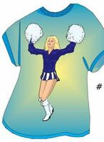 Cheerleader T Shirt Acrylic Coaster w/ Felt Back