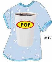 Soda Pop T Shirt Acrylic Coaster w/ Felt Back