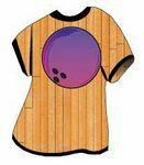 Purple Bowling Ball T-Shirt Mighty Mini Magnet