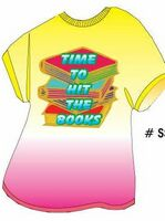 Time To Hit The Books Slogan T Shirt Acrylic Coaster w/ Felt Back